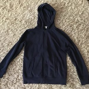 H&M Navy Boys Zip Up Top